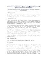 Salmonella trong sản phẩm thuỷ sản - Phương pháp định tính bằng kỹ thuật Polymerase Chain Reaction
