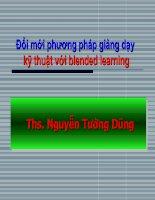 Đổi mới phương pháp giảng dạy kỹ thuật với blended learning