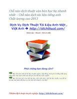 Chỗ nào dịch thuật văn bản học bạ nhanh nhất