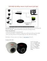 Giới thiệu hệ thống camera và giá camera phù hợp