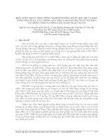 ĐIỀU KIỆN KHÍ TƯỢNG NÔNG NGHIỆP Ở ĐỒNG BẰNG BẮC BỘ VÀ KHẢ NĂNG SẢN XUẤT CÁC GIỐNG LÚA SIÊU CAO SẢN
