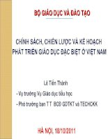 Chính sách, chiến lược và kế hoạch phát triển giáo dục đặc biệt ở Việt Nam