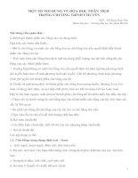 MỘT SỐ NỘI DUNG VỀ HÓA HỌC PHÂN TÍCH  TRONG CHƯƠNG TRÌNH CHUYÊN