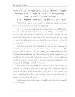 PHÂN TÍCH THỰC TRẠNG VÀ ĐỀ XUẤT GIẢI PHÁP ĐỂ NÂNG CAO HIỆU QUẢ SẢN XUẤT KINH DOANH XUẤT NHẬP KHẨU Ở CÔNG TY TNHH Cao Cường