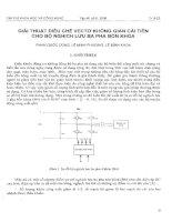 Giải thuật điều chế vectơ không gian cải tiến cho bộ nghịch lưu ba pha bốn khóa