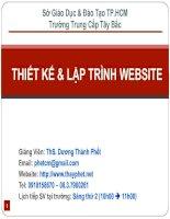 Thiết kế và lập trình website