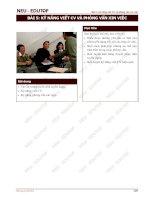 Bài 5: Kỹ Năng Viết CV Và Phỏng Vấn Xin Việc