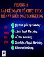 Lập kế hoạch tổ chức thực hiện và kiểm soát Marketing