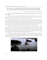 Khai thác các điều kiện tự nhiên phục vụ phát triển, du lịch tại khu du lịch hồ núi cốc tỉnh thái nguyên