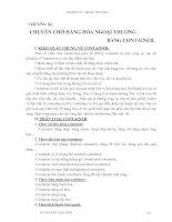 Giáo trình Kỹ thuật nghiệp vụ ngoại thương - Chương 11