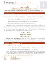 Hướng dẫn kiểm tra đầu vào năm học 2012-2013