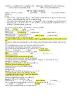 đề thi trắc nghiệm môn Vi xử lý và ctmt (đề 12)