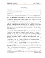 234 Hoàn thiện kiểm toán tài sản cố định trong quy trình kiểm toán báo cáo tài chính do Công ty TNHH Tư vấn Kế toán - Kiểm toán Việt Nam thực hiện