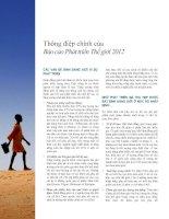 Thông điệp chính của Báo cáo Phát triển Thế giới 2012