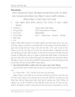 134 Thực trạng Kế toán tập hợp chi phí sản Xuất và tính giá thành sản phẩm tại Công ty may chiến thắng – tổng Công ty dệt may Việt Nam