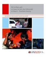 HIV và nam giới có quan hệ tình dục đồng giới ở châu á