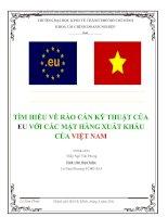 TÌM HIỂU VỀ RÀO CẢN KỸ THUẬT CỦA EU VỚI CÁC MẶT HÀNG XUẤT KHẨU CỦA VIỆT NAM