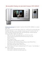 Giới thiệu bộ sản phẩm Chuông cửa màn hình Commax CDV