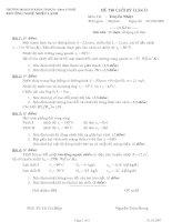 Đề thi cuối kỳ môn truyền nhiệt