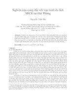 Nghiên cứu cung đối với loại hình du lịch  MICE tại Hải Phòng
