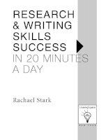 Research and Writing Skills Success in 20 mins a day