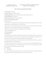 Đề cương chi tiết môn Anh Văn 2