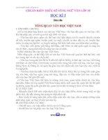 CHUẨN KIẾN THỨC-KĨ NĂNG NGỮ VĂN LỚP 10