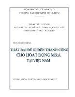 Thất bại để đi đến thành công cho hoạt động M&A tại Việt Nam