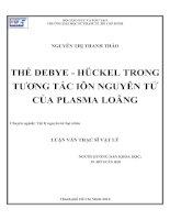 Thế Debye - huckel trong tương tác iôn nguyên tử của Plasma loãng