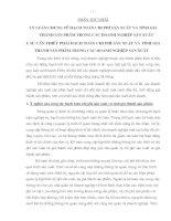 87 nhiệm vụ của hạch toán chi phí sản Xuất và tính giá thành sản phẩm của các doanh nghiệp sản Xuất