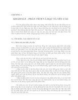 Chương 3: Khảo sát, phân tích và đặc tả yêu cầu