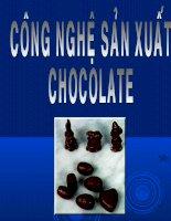 công nghệ sản xuất chocolate