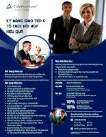Kỹ năng giao tiếp và tổ chức hội họp hiệu quả
