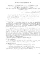 ỨNG DỤNG GIS TRONG QUẢN LÝ LÃNH THỔ DU LỊCH  VƯỜN QUỐC GIA BIDOUP – NÚI BÀ