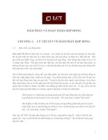 Đàm phán và soạn thảo hợp đồng .Chương 1: Lý thuyết về đàm phán hợp đồng