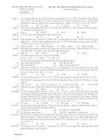 Đề thi thử đại học môn hóa học lần III
