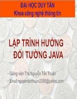 Lập trình hướng đối tường Java