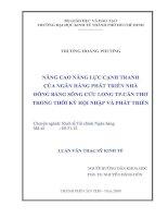Luận văn thạc sĩ về nâng cai năng lực cạnh tranh của ngân hàng Phát triển Đồng bằng sông Cửu Long TP. Cần Thơ