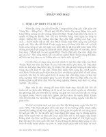 QUẢN LÝ NHÀ NƯỚC ĐỐI VỚI CÁC DỰ ÁN ĐẦU TƯ NƯỚC NGOÀI VỀ LĨNH VỰC DU LỊCH TẠI TỈNH BÌNH THUẬN GIAI ĐOẠN 2006 - 2010