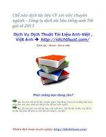 Chỗ nào dịch tài liệu CV xin việc chuyên ngành