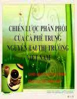 Chiến lược phân phối của cà phê Trung Nguyên tại thị trường Việt Nam