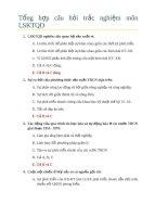 Tổng hợp câu hỏi trắc nghiệm môn LSKTQD