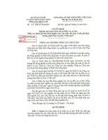 Quyết định Số 60/QĐ-TCTS-KHTC