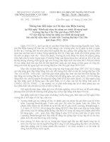 Thông báo kết luận và chỉ đạo của Hiệu trưởng tại hội nghị