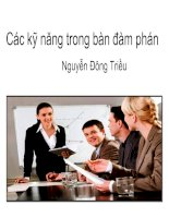 Các kỹ năng trong bàn đàm phán _ Nguyễn Đông Triều