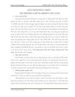 Giải pháp phát triển thị trường chứng khoán Việt Nam