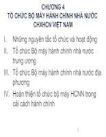 Tổ chức bộ máy hành chính nhà nước CHXHCN Việt Nam