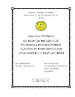46 Tổ chức Kế toán nguyên vật liệu và phân tích tình hình quản lý sử dụng nguyên vật liệu tại Công ty TNHH dệt may Vĩnh Oanh (85tr)