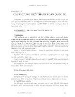 Giáo trình Kỹ thuật nghiệp vụ ngoại thương - Chương 7