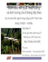 Dự án phát triển ngành hàng luồng (LDP) Thanh Hóa  (tháng 10/2007 – 4/2008)